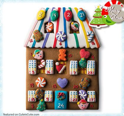 Edible cookie advent calendar