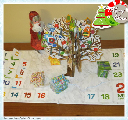 Pop up Christmas advent calendar