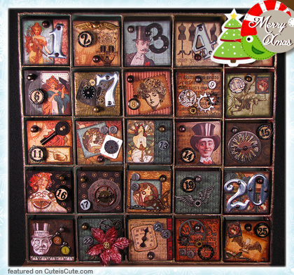Steampunk Christmas advent calendar