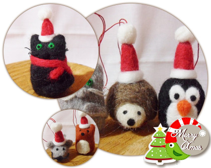 Cute felt Christmas decoration
