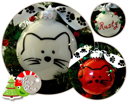 Cute cat Christmas decoration