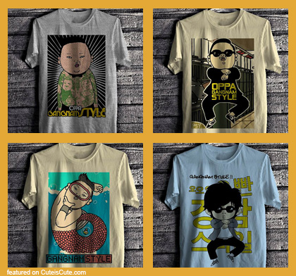 Gangnam style Christmas gifts Gangnam Style T-shirts