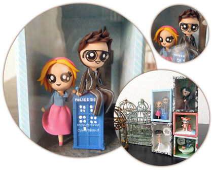 Doctor Who and Rose miniature sculpture