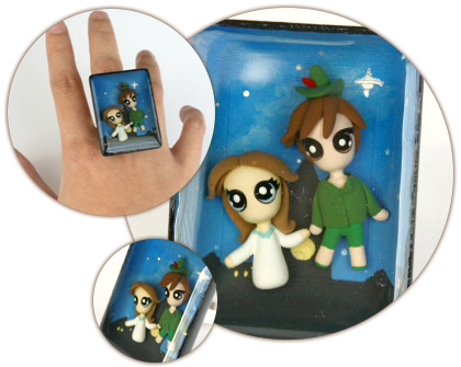 Peter Pan and Wendy Bubble Ring