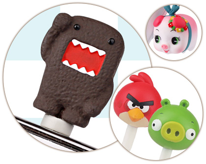 Domo kun cute earphone jack plug