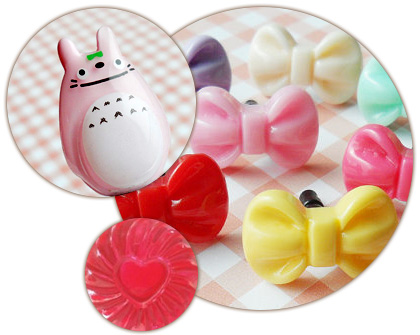 Cute Totoro earphone jack plug