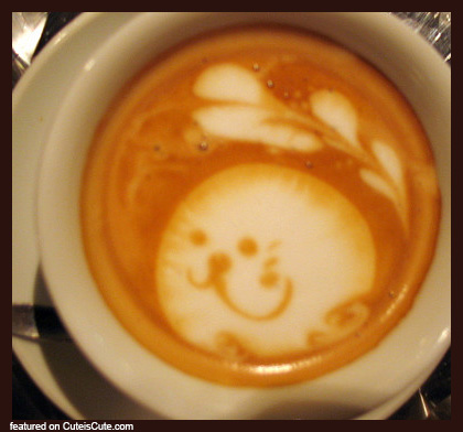 Super cute latte art
