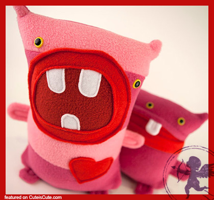 Super cute valentine plush