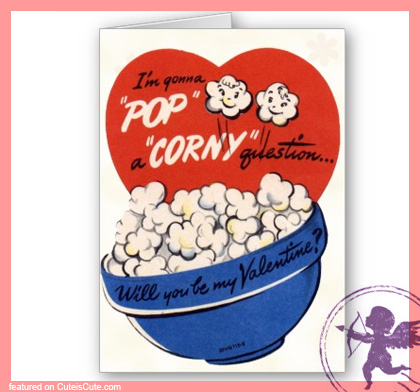 Corny retro valentine's day card