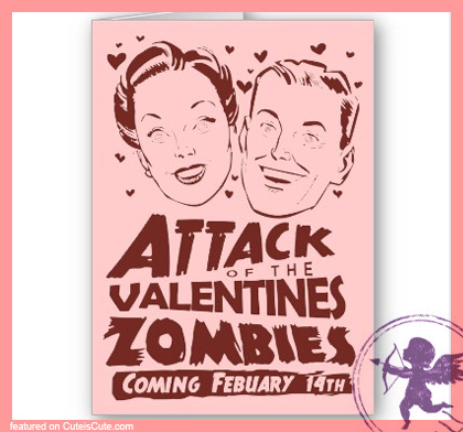 Funny retro valentine's day card