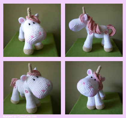 Cute amigurumi unicorn