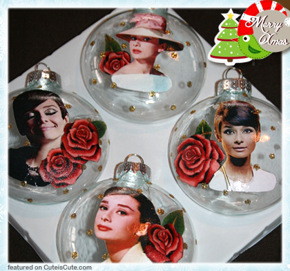 Christmas ornament with Audrey Hepburn