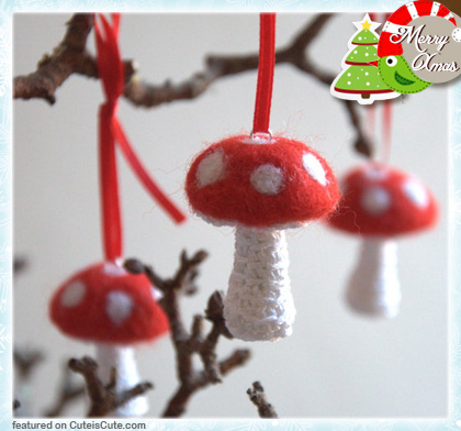 Cute mushroom Christmas decoration