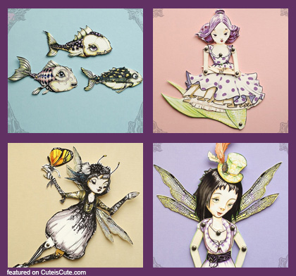 Filigree paper dolls