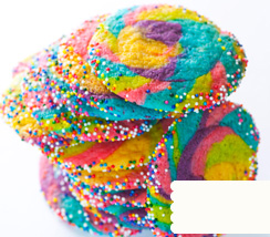 Bling-y Rainbow Cookie