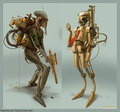 Steampunk Star Wars concept art