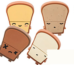 4 Little Toasts Sitting in a Hub