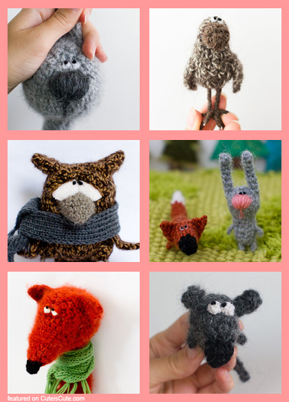 Adorable crochet toys